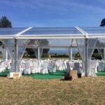 Beleuchtung und Dekoration Hochzeit in Zelt
