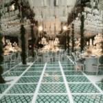 Dekoration und Beleuchtung Hochzeit