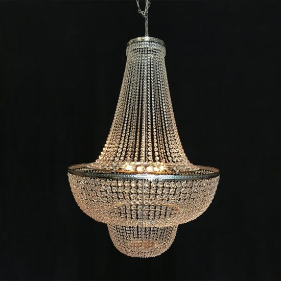 Kroonluchter Zilver 550x550